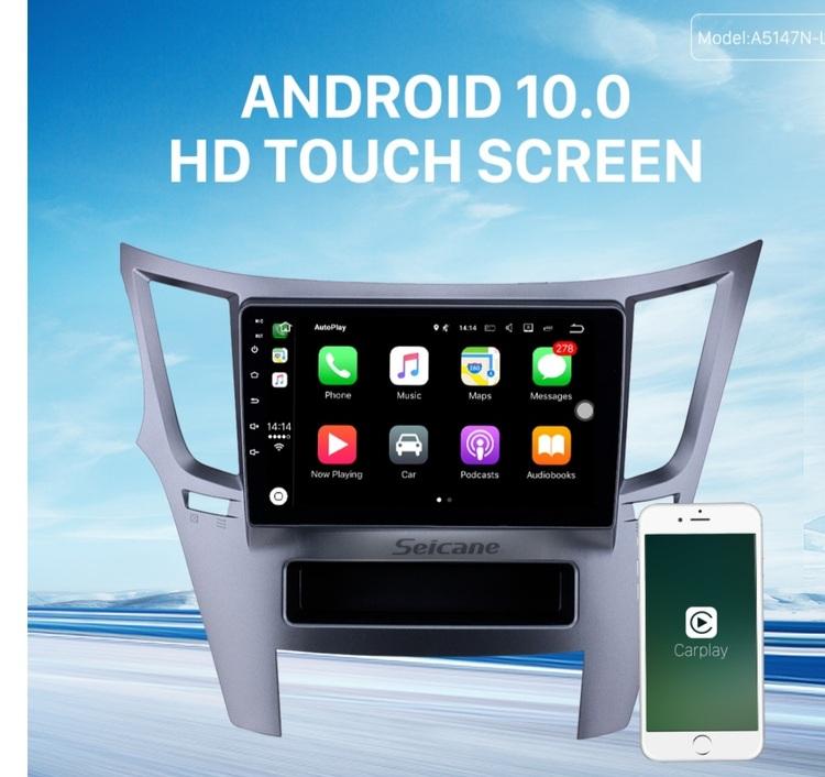 "9""android 10,bilstereo Subaru  Legacy (2010---2014) gps, wifi, 32GB, blåtand"