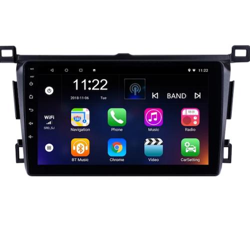 "9""android 10,bilstereo Toyota rav4(2013---2018) gps, wifi, 32GB, blåtand"