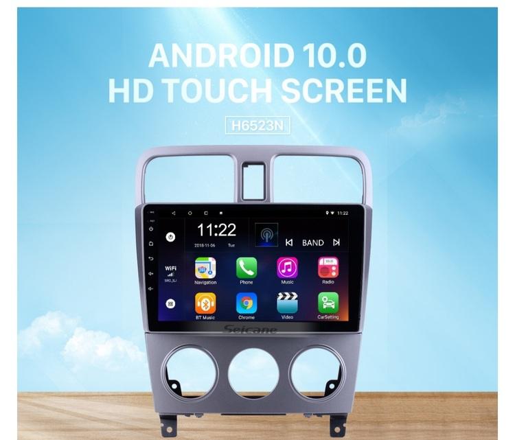 "9""android 10,bilstereo Subaru forester (2004---2008) gps, wifi, 32GB, blåtand"