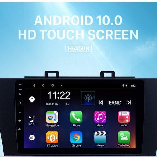 "9""android 10,bilstereo Subaru Legacy (2015--2018) gps, wifi, 32GB, blåtand"
