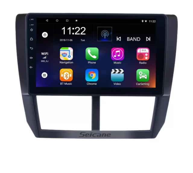 "9""android 10,bilstereo  Subaru Forester (2009--2012) gps, wifi, 32GB ,blåtand"