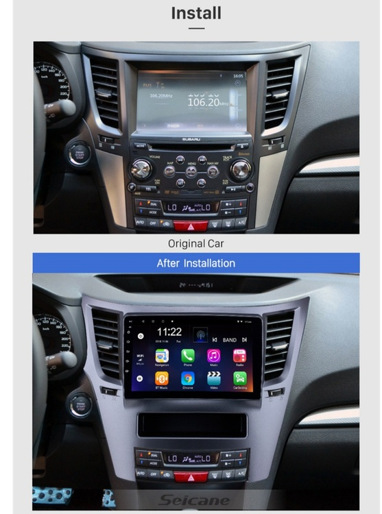 "9""android 10,bilstereo Subaru Ouback (2010--2016) gps, wifi, 32GB, blåtand"
