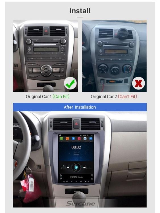 "9.7"" android 10, bilstereo Toyota Corolla (2006--2012) wifi, 32GB, blåtand, 4G-"