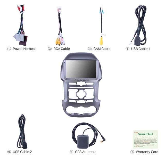 "9""android 10,bilstereo  Ford Ranger (2011---2016) gps, wifi, 32GB, blåtand"