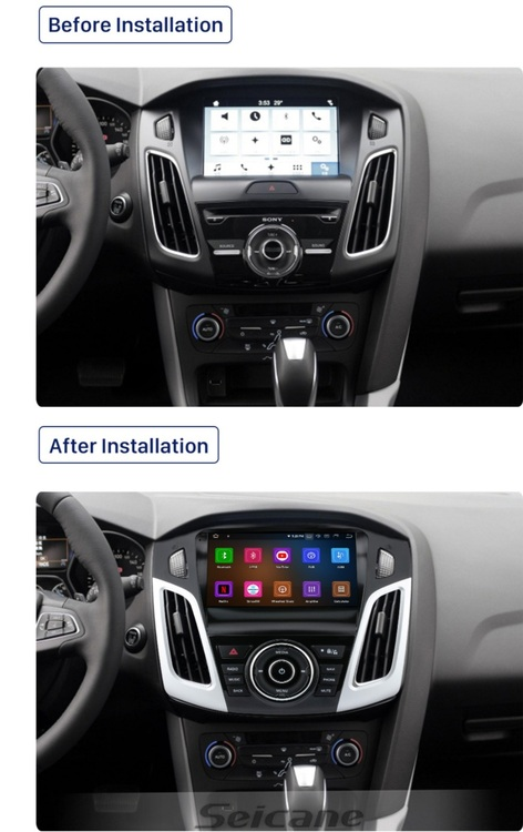 """9""""android 10,bilstereo  Ford Focus (2012---2018) gps, wifi, 32GB, blåtand"""