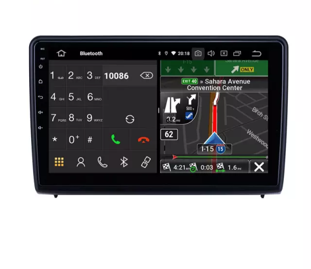 """10,1"""" android q0, bilstereo Ford Ecosport (2018--2019) gps, wifi, 32GB, blåtand"""