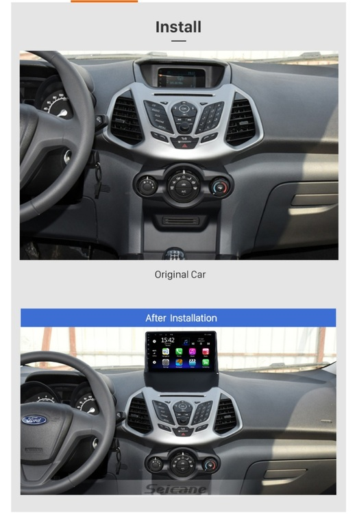 """9""""android 10,bilstereo Ford Ecosport (2013---2017) gps, wifi, 32GB, blåtand"""