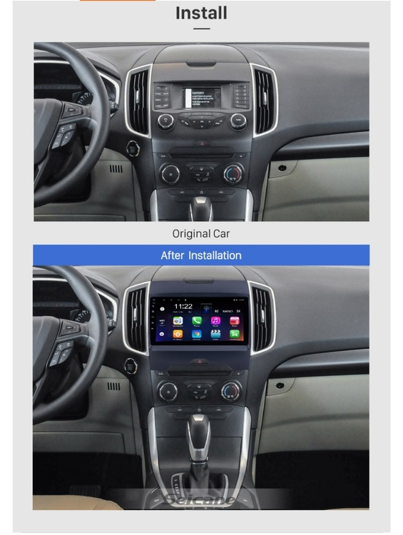"""9""""android 10,bilstereo  Ford Edge (2013---2017) gps, wifi, 32GB, blåtand"""