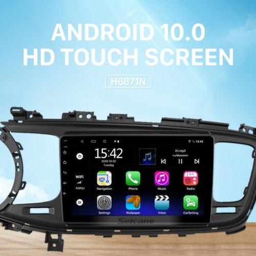 "9""android 10, bilstereo Kia K5 (2013---2015) gps, wifi, 32GB ,blåtand"