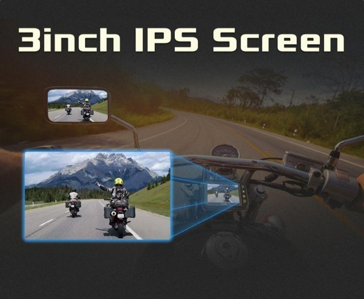 """3"""" Motorcykel vattentät  dvr kamerasystem, wifi"""