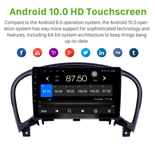 "9""android 10,bilstereo Nissan Juke (2011---2016)"