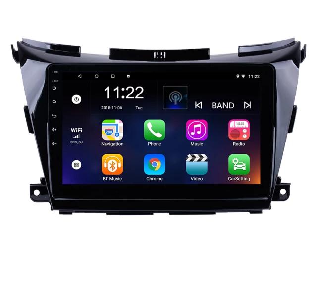 "10,1""android 10,bilstereo Nissan Murano (2015---2017) gps, wifi, 32GB, blåtand"