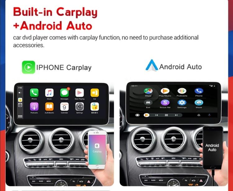 "12.3"" android 10 ,bilstereo Mercedes Benz V-klass ( 2015--2020),  gps, wifi, 64GB,Carplay,blåtand"