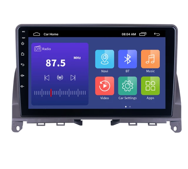 "9""android 10, bilstereo Mercedes Benz  C -klass(2007--2014) GPS,wifi, 32GB, blåtand"
