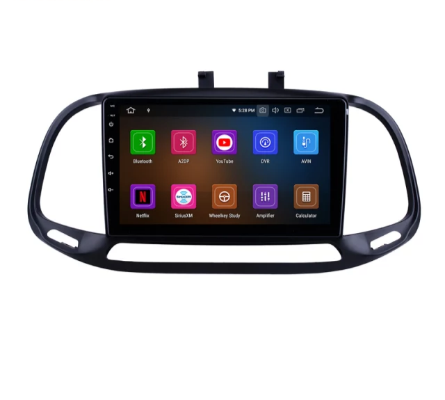 "9""android 10, bilstereo FIAT DOBLO VAN (2015---2021) GPS, WIFI, 32GB, blåtand"