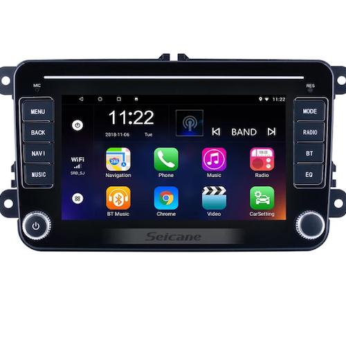 "7"" android10, vw bilstereo  ,gps, 32GB, blåtand, wifi"