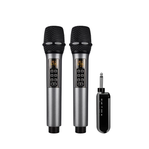 2*50 Kanal UHF PLL trådlöst  handmikrofon system