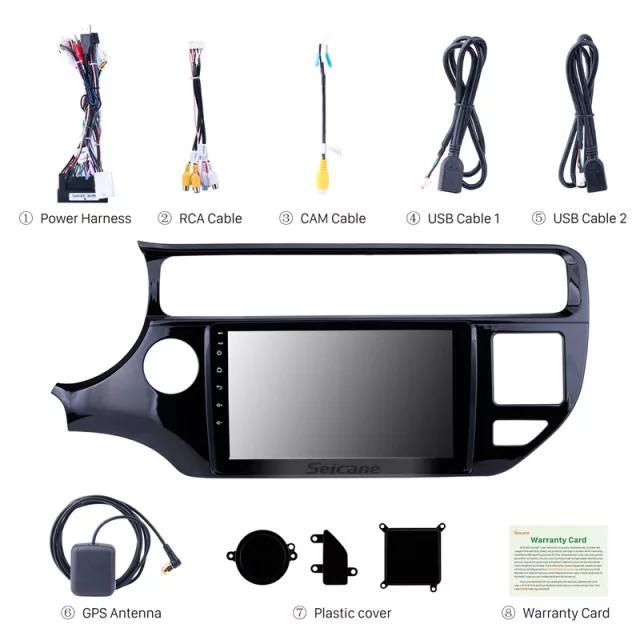 "9""android 10,bilstereo Kia Rio (2012----2015) gps, wifi, 32GB  carplay, blåtand"
