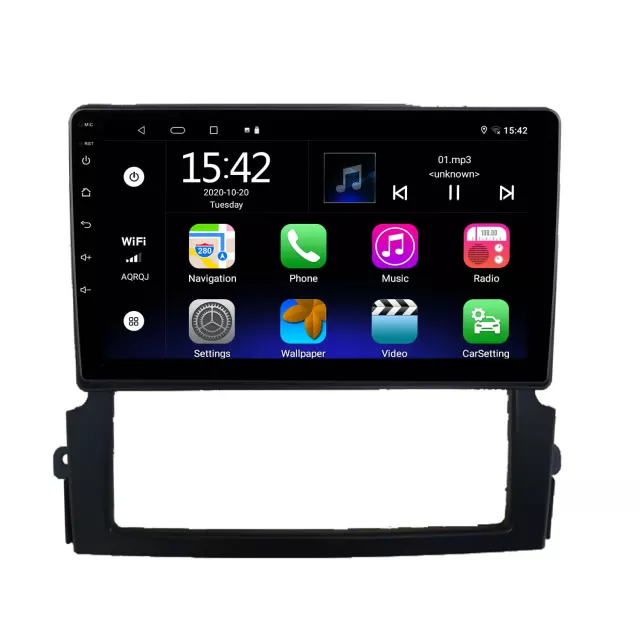"9""android 10, bilstereo KIA SORENTO(2004---- 2008) gps,blåtand,CarPlay  ,32GB,,wifi"