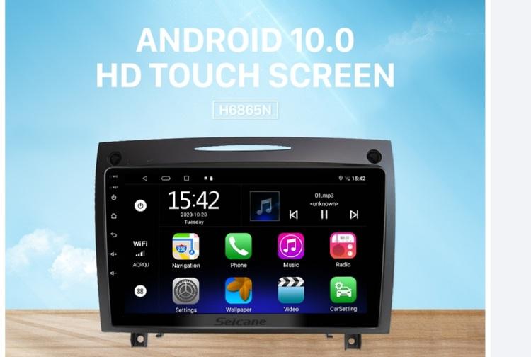 "9""android 10,bilstereo Mercedes Benz SLK(2004--2012) 32GB,carplay, gps ,blåtand, wifi"