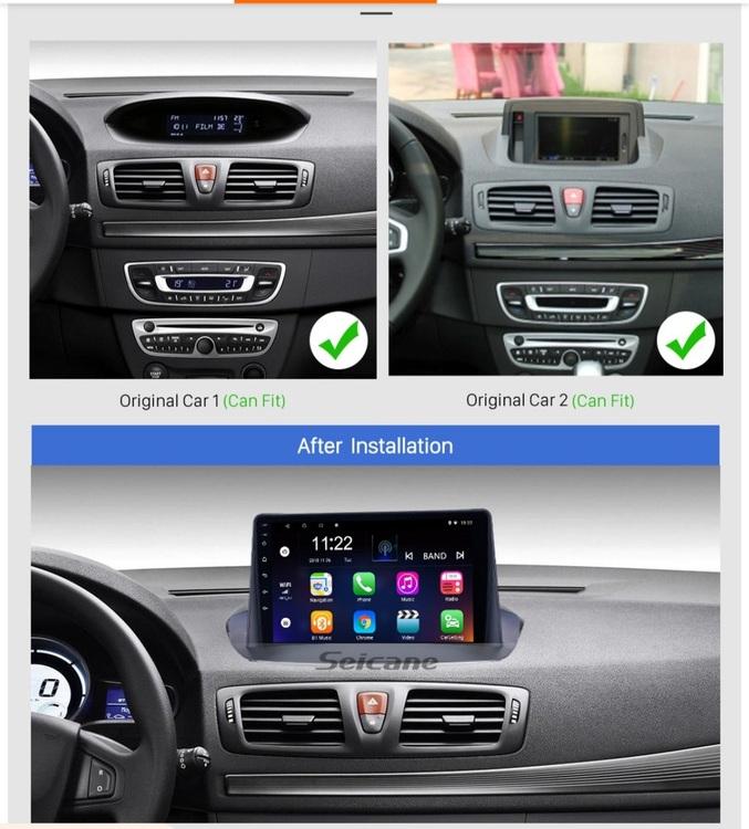 "9""android 10,bilstereo Renault Megane (2009--2015)gps,wifi  32GB, blåtand, CarPlay"