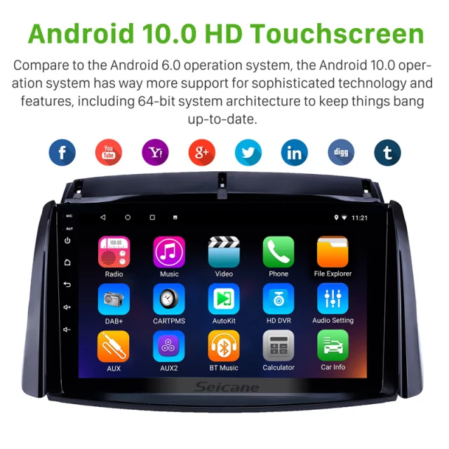"9""android 10,bilstereo Renault  koleos ( 2009--2016) GPS, wifi, 32GB  ,blåtand  carplay"