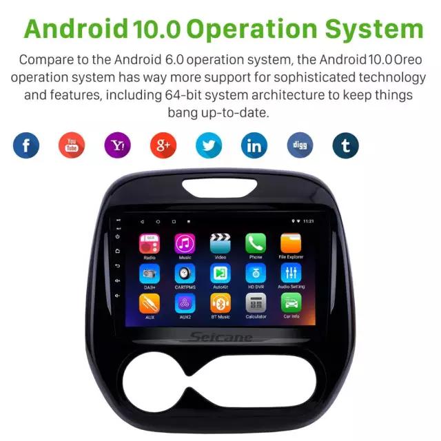 "9""android 10,bilstereo Renault Captur,Clio auto A/C (2011---2016) GPS, 32GB ,blåtand, wifi ,carplay"