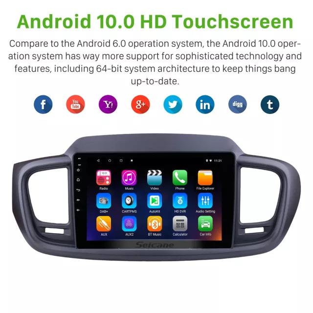 "10,1"" android  10,bilstereo KIA SORENTO (2015---2016) GPS ,wifi, 32GB, blåtand, carplay"