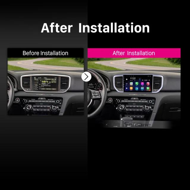 "9""android 10,bilstereo  KIA Sportage (2018--2019) GPS, wifi, 32GB, blåtand, carplay"