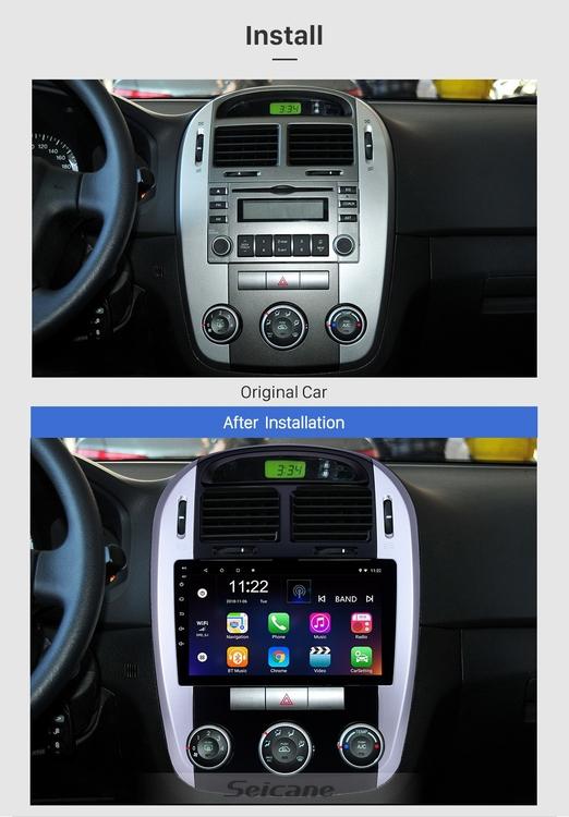 "9""android 10,bilstereo Kia cerato (2012---2016) GPS, wifi, 32GB, blåtand  carplay"