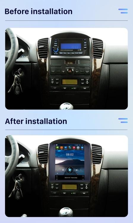 "9.7"" android 10,bilstereo  Kia Sorento ( 2004----2008)GPS, wifi, 32GB, blåtand carplay"