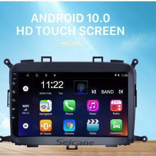 "9""android 10,bilstereo  Kia Carens (2014---2017) GPS, wifi, 32GB, blåtand, carplay"