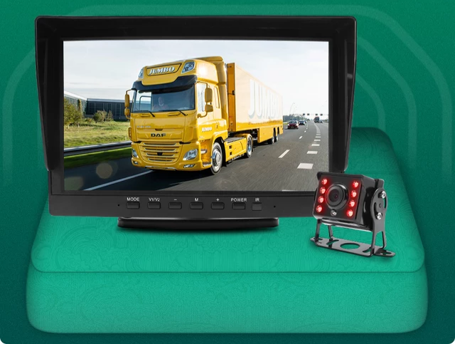 "8"" buss& Truck DVR kamera system ,20 meter sladd"