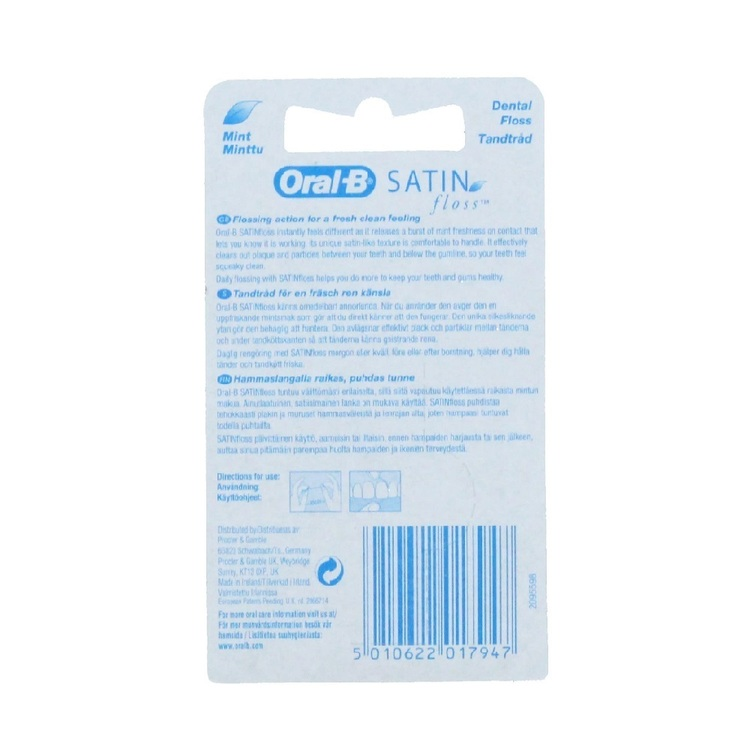Oral B Satin Floss with Mint 25 m