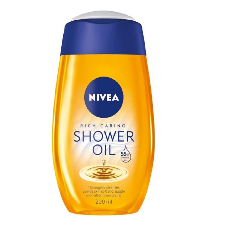 Nivea Natural Oil Shower Oil 200 ml For Dry Skin