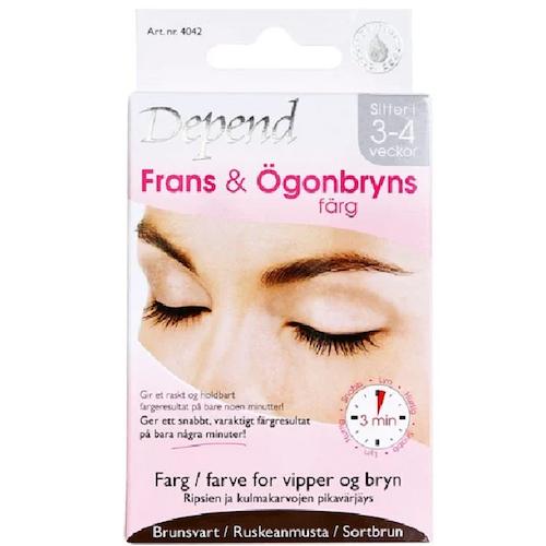 Depend Fringe & Eyebrow Color Brownish Black