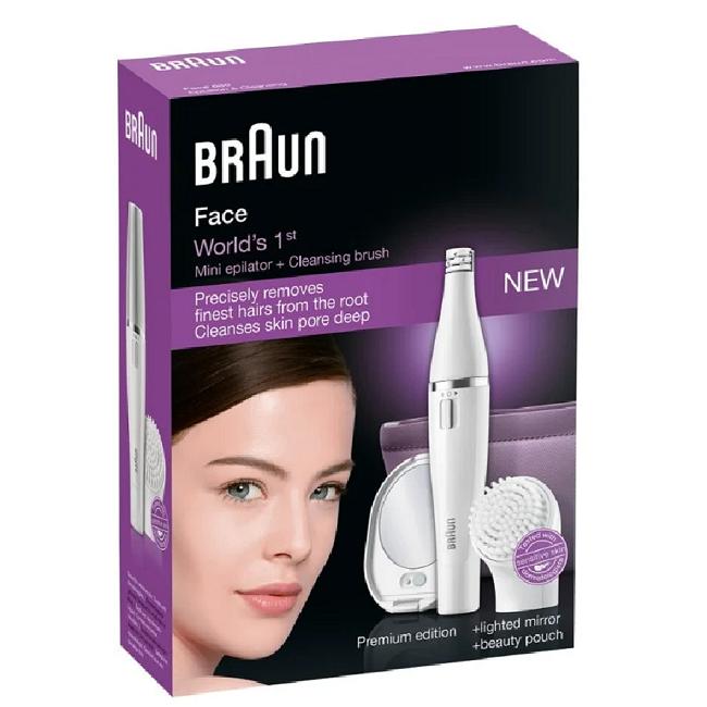 Braun SE830 Face Epilator + Cleansing Brush