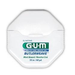 GUM ButlerWeave Waxed Dental Floss Mint Flavor 55 m