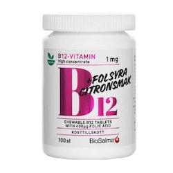 BioSalma B12 Vitamin 1 mg + Folic Acid 100 Tablets