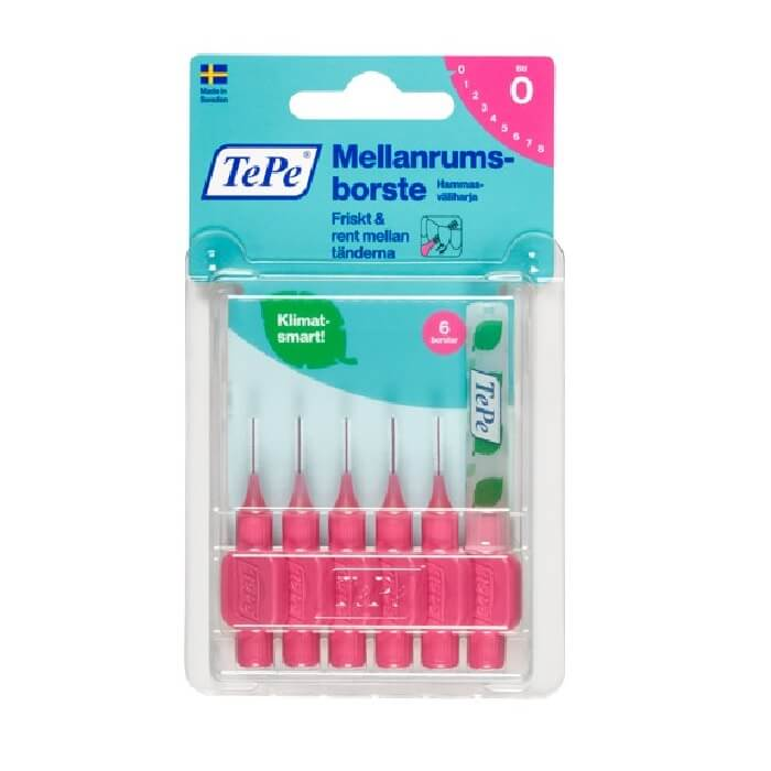TePe Interdental Brush Pink 0.4 mm 6 pcs