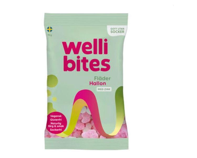 Kopia Wellibites Fläder/hallon Sockerfri Vegan 70g