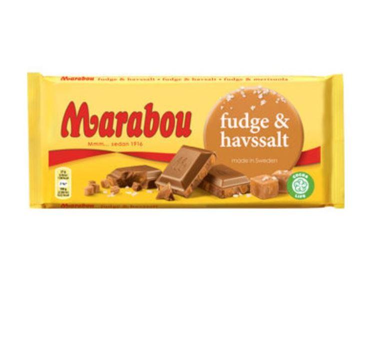 Marabou fudge & havssalt 185g