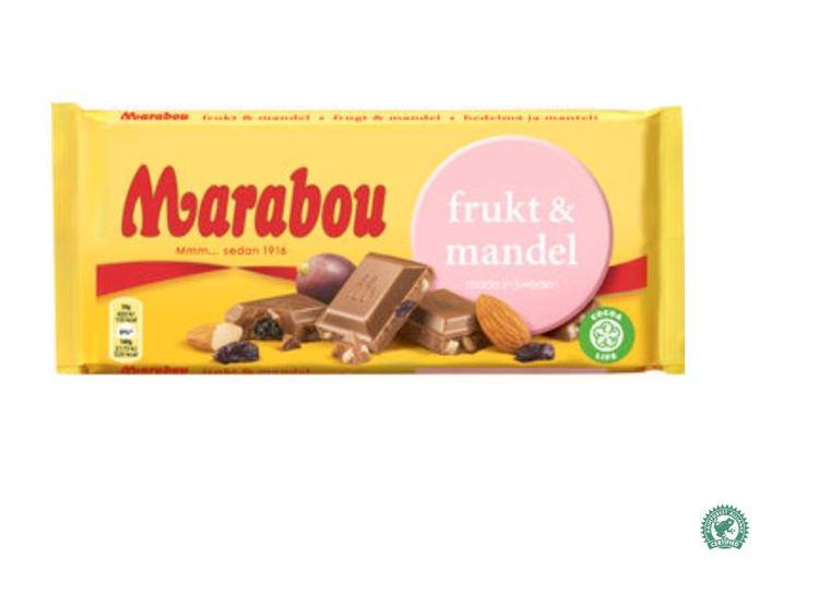 Marabou frukt & mandel 200g