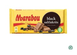 Marabou black saltlakrits 100g