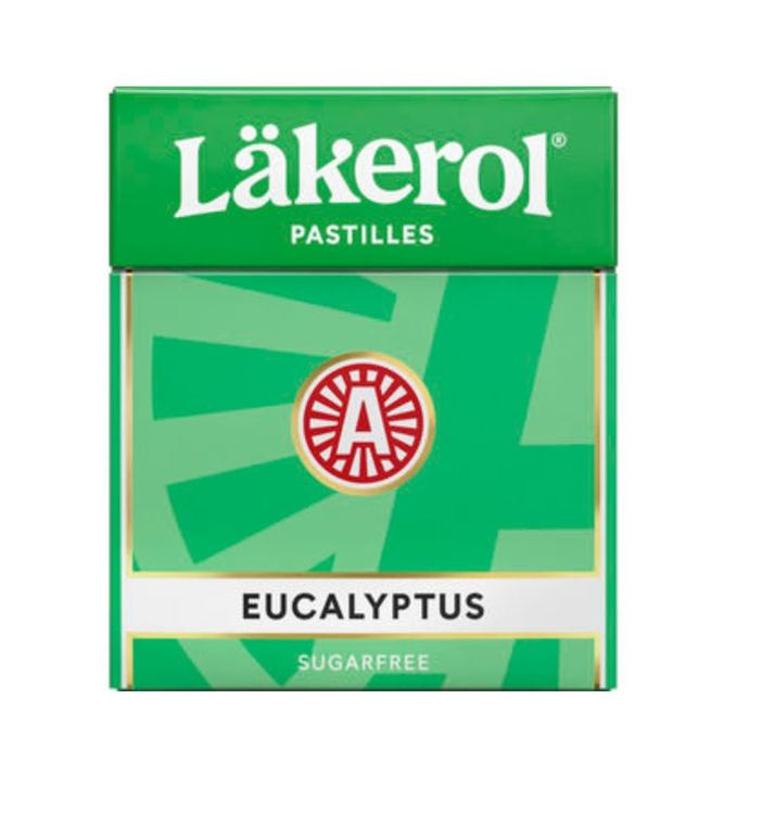 Eucalyptus Halstablett Läkerol 25g