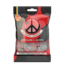 Peacemärke Jordgubb/lakrits