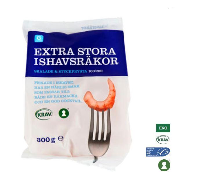 Ishavsräkor Frysta Garant Eko 300g