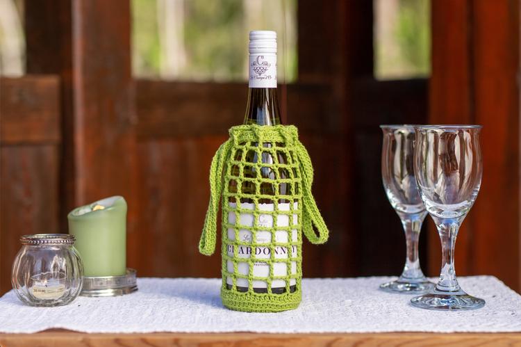 Grønn vin-veske
