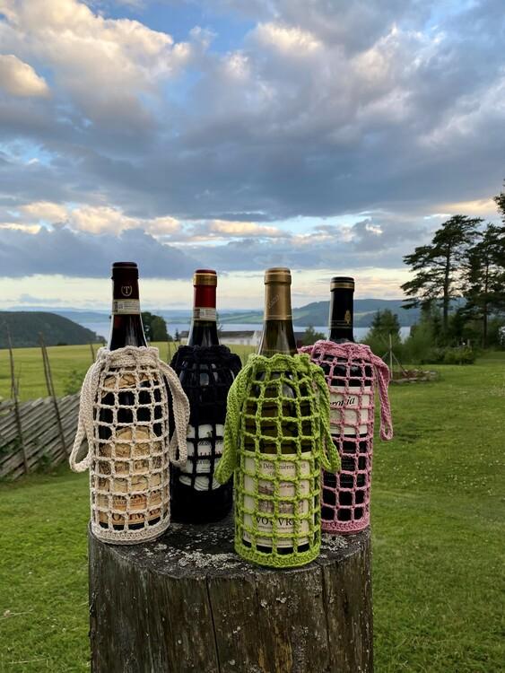 Beige vin-veske