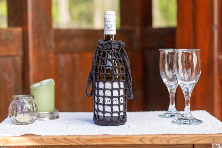 Svart vin-veske